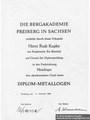 Diplom Rudi Kupfer Bergakademie Freiberg 1964 - Geschichte Deutschland DDR Memoiren Junge vom Knack