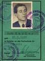 Studentenausweis Rudi Kupfer Fachschule für Chemie Köthen 1955 - Geschichte Deutschland DDR Memoiren Junge vom Knack